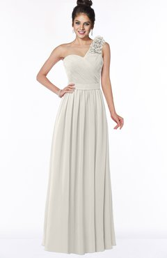 ColsBM Elisa Off White Simple A-line One Shoulder Half Backless Chiffon Flower Bridesmaid Dresses