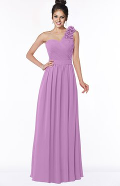 ColsBM Elisa Orchid Simple A-line One Shoulder Half Backless Chiffon Flower Bridesmaid Dresses