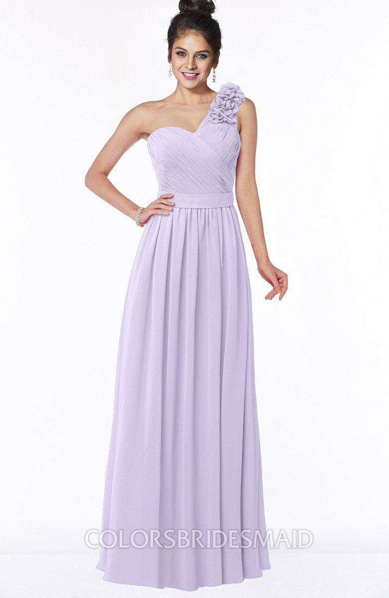 047218b46a55 ColsBM Elisa Pastel Lilac Simple A-line One Shoulder Half Backless Chiffon  Flower Bridesmaid Dresses