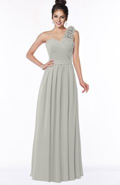 ColsBM Elisa Platinum Simple A-line One Shoulder Half Backless Chiffon Flower Bridesmaid Dresses