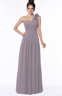 ColsBM Elisa Sea Fog Simple A-line One Shoulder Half Backless Chiffon Flower Bridesmaid Dresses