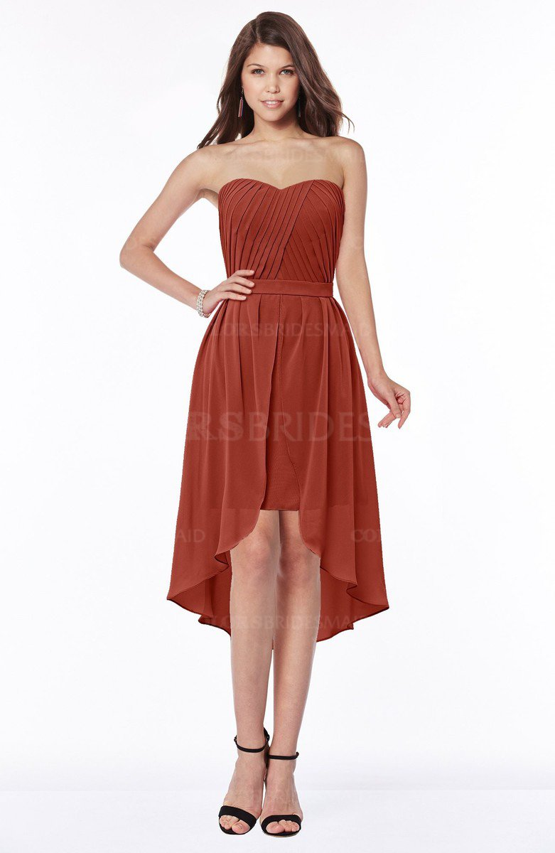 3627627138d ColsBM Anahi Rust Gorgeous A-line Strapless Half Backless Ruching  Bridesmaid Dresses