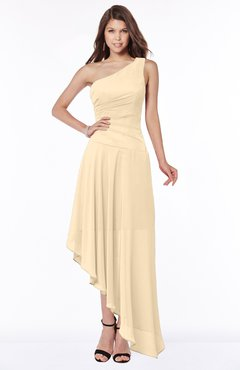 ColsBM Maggie Apricot Gelato Luxury A-line Zip up Chiffon Floor Length Ruching Bridesmaid Dresses