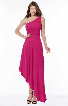 ColsBM Maggie Beetroot Purple Luxury A-line Zip up Chiffon Floor Length Ruching Bridesmaid Dresses