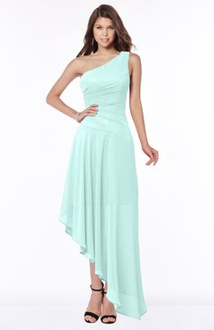 ColsBM Maggie Blue Glass Luxury A-line Zip up Chiffon Floor Length Ruching Bridesmaid Dresses