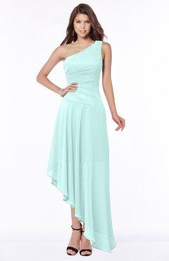ColsBM Maggie Blue Glass Luxury A-line Zip up Chiffon Floor Length Ruching Bridesmaid Dresses