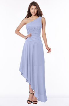 ColsBM Maggie Blue Heron Luxury A-line Zip up Chiffon Floor Length Ruching Bridesmaid Dresses