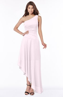 ColsBM Maggie Blush Luxury A-line Zip up Chiffon Floor Length Ruching Bridesmaid Dresses