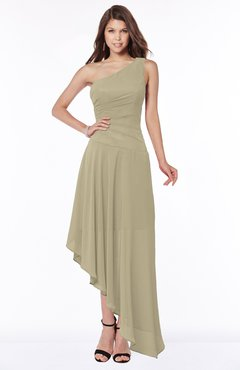 ColsBM Maggie Candied Ginger Luxury A-line Zip up Chiffon Floor Length Ruching Bridesmaid Dresses