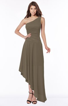 ColsBM Maggie Carafe Brown Luxury A-line Zip up Chiffon Floor Length Ruching Bridesmaid Dresses