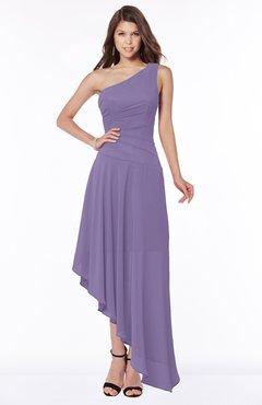 ColsBM Maggie Chalk Violet Luxury A-line Zip up Chiffon Floor Length Ruching Bridesmaid Dresses