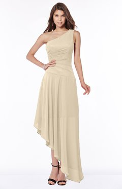 ColsBM Maggie Champagne Luxury A-line Zip up Chiffon Floor Length Ruching Bridesmaid Dresses