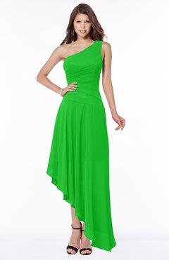 ColsBM Maggie Classic Green Luxury A-line Zip up Chiffon Floor Length Ruching Bridesmaid Dresses