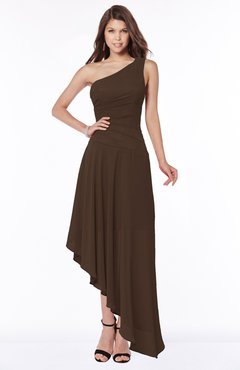 ColsBM Maggie Copper Luxury A-line Zip up Chiffon Floor Length Ruching Bridesmaid Dresses