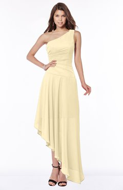 ColsBM Maggie Cornhusk Luxury A-line Zip up Chiffon Floor Length Ruching Bridesmaid Dresses