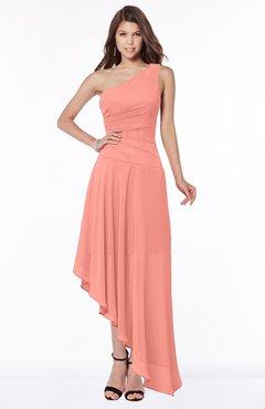 ColsBM Maggie Desert Flower Luxury A-line Zip up Chiffon Floor Length Ruching Bridesmaid Dresses