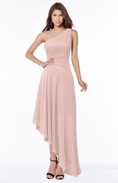 ColsBM Maggie Dusty Rose Luxury A-line Zip up Chiffon Floor Length Ruching Bridesmaid Dresses