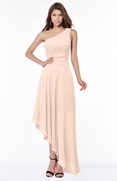 ColsBM Maggie Fresh Salmon Luxury A-line Zip up Chiffon Floor Length Ruching Bridesmaid Dresses