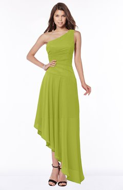 ColsBM Maggie Green Oasis Luxury A-line Zip up Chiffon Floor Length Ruching Bridesmaid Dresses