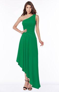 ColsBM Maggie Green Luxury A-line Zip up Chiffon Floor Length Ruching Bridesmaid Dresses