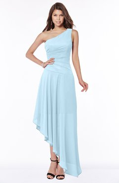 ColsBM Maggie Ice Blue Luxury A-line Zip up Chiffon Floor Length Ruching Bridesmaid Dresses
