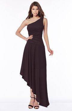 ColsBM Maggie Italian Plum Luxury A-line Zip up Chiffon Floor Length Ruching Bridesmaid Dresses