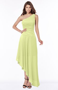 ColsBM Maggie Lime Green Luxury A-line Zip up Chiffon Floor Length Ruching Bridesmaid Dresses