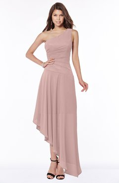 ColsBM Maggie Nectar Pink Luxury A-line Zip up Chiffon Floor Length Ruching Bridesmaid Dresses