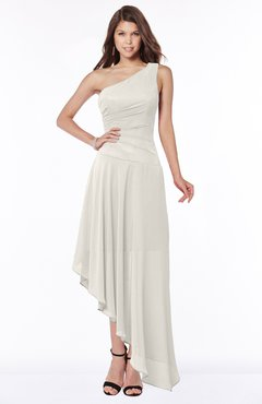 ColsBM Maggie Off White Luxury A-line Zip up Chiffon Floor Length Ruching Bridesmaid Dresses