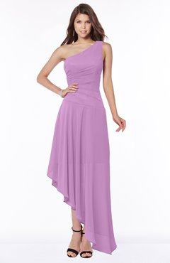 ColsBM Maggie Orchid Luxury A-line Zip up Chiffon Floor Length Ruching Bridesmaid Dresses