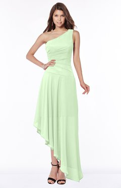 ColsBM Maggie Pale Green Luxury A-line Zip up Chiffon Floor Length Ruching Bridesmaid Dresses