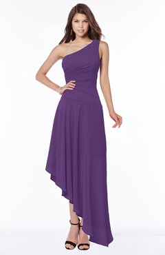 ColsBM Maggie Pansy Luxury A-line Zip up Chiffon Floor Length Ruching Bridesmaid Dresses