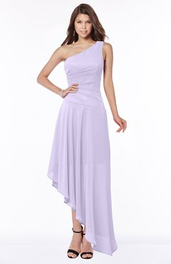 ColsBM Maggie Pastel Lilac Luxury A-line Zip up Chiffon Floor Length Ruching Bridesmaid Dresses