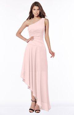 ColsBM Maggie Pastel Pink Luxury A-line Zip up Chiffon Floor Length Ruching Bridesmaid Dresses