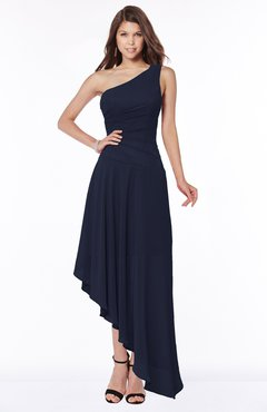 ColsBM Maggie Peacoat Luxury A-line Zip up Chiffon Floor Length Ruching Bridesmaid Dresses