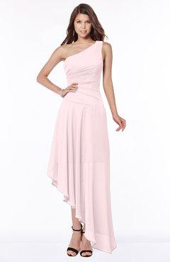 ColsBM Maggie Petal Pink Luxury A-line Zip up Chiffon Floor Length Ruching Bridesmaid Dresses