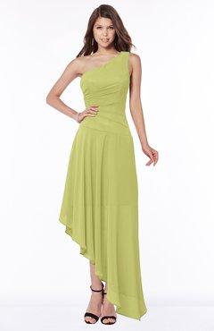 ColsBM Maggie Pistachio Luxury A-line Zip up Chiffon Floor Length Ruching Bridesmaid Dresses