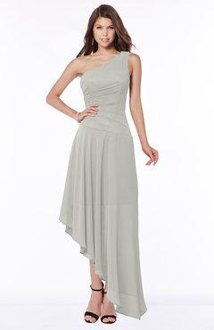 ColsBM Maggie Platinum Luxury A-line Zip up Chiffon Floor Length Ruching Bridesmaid Dresses