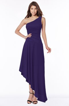 ColsBM Maggie Royal Purple Luxury A-line Zip up Chiffon Floor Length Ruching Bridesmaid Dresses