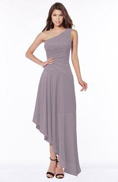 ColsBM Maggie Sea Fog Luxury A-line Zip up Chiffon Floor Length Ruching Bridesmaid Dresses