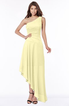 ColsBM Maggie Soft Yellow Luxury A-line Zip up Chiffon Floor Length Ruching Bridesmaid Dresses