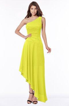 ColsBM Maggie Sulphur Spring Luxury A-line Zip up Chiffon Floor Length Ruching Bridesmaid Dresses