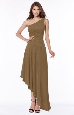 ColsBM Maggie Truffle Luxury A-line Zip up Chiffon Floor Length Ruching Bridesmaid Dresses