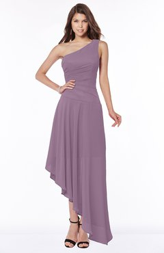 ColsBM Maggie Mist Pink Luxury A-line Zip up Chiffon Floor Length Ruching Bridesmaid Dresses