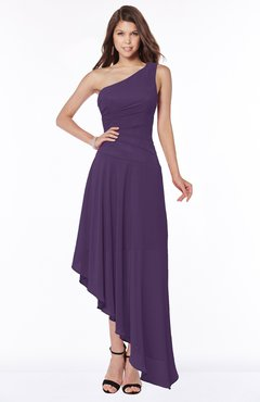 ColsBM Maggie Violet Luxury A-line Zip up Chiffon Floor Length Ruching Bridesmaid Dresses