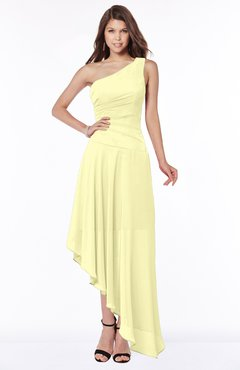 ColsBM Maggie Wax Yellow Luxury A-line Zip up Chiffon Floor Length Ruching Bridesmaid Dresses