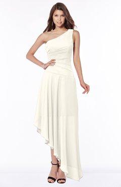 ColsBM Maggie Whisper White Luxury A-line Zip up Chiffon Floor Length Ruching Bridesmaid Dresses