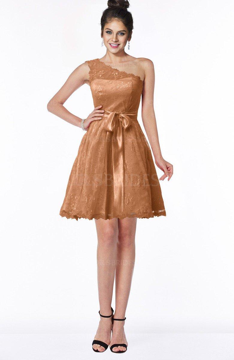 3583b46eece ColsBM Abby Amber Glamorous A-line Sleeveless Zip up Knee Length Lace  Bridesmaid Dresses