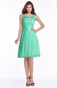 68a20427cbe2 ColsBM Marilyn Mint Green Elegant A-line Scoop Sleeveless Lace Bridesmaid  Dresses