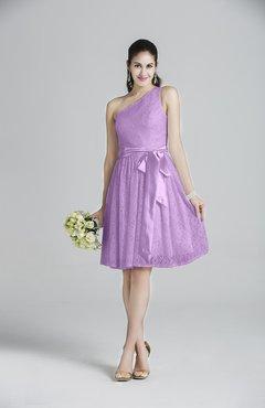 6420139b997 ColsBM Ariya Begonia Romantic One Shoulder Zip up Knee Length Sash Bridesmaid  Dresses